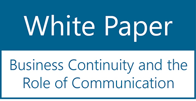 Business Continuity & the Role of Communication