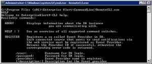 Alarmierung per Kommandozeile mit Enterprise Alert
