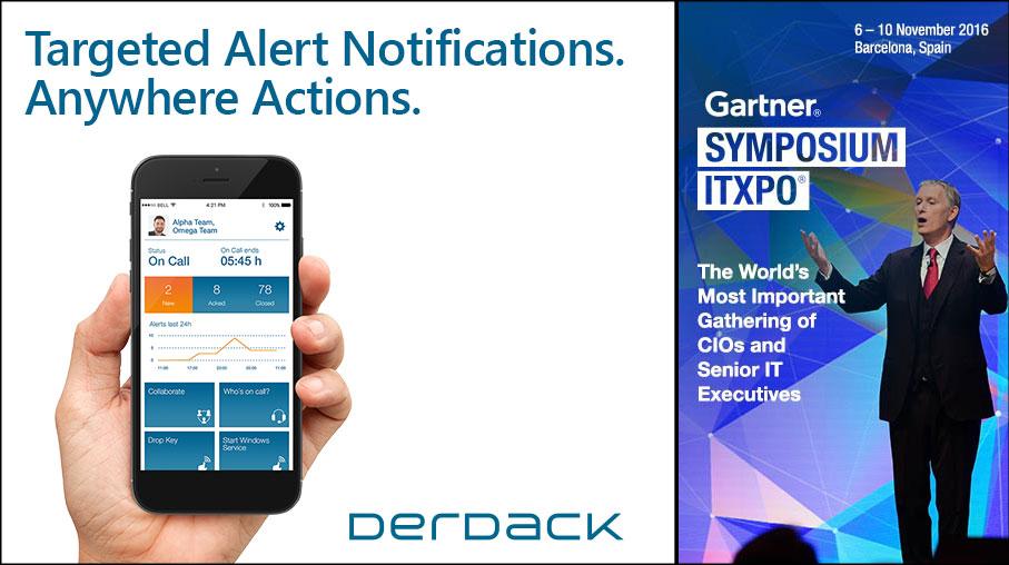 Treffen Sie Derdack beim Gartner Symposium/ ITxpo in Barcelona