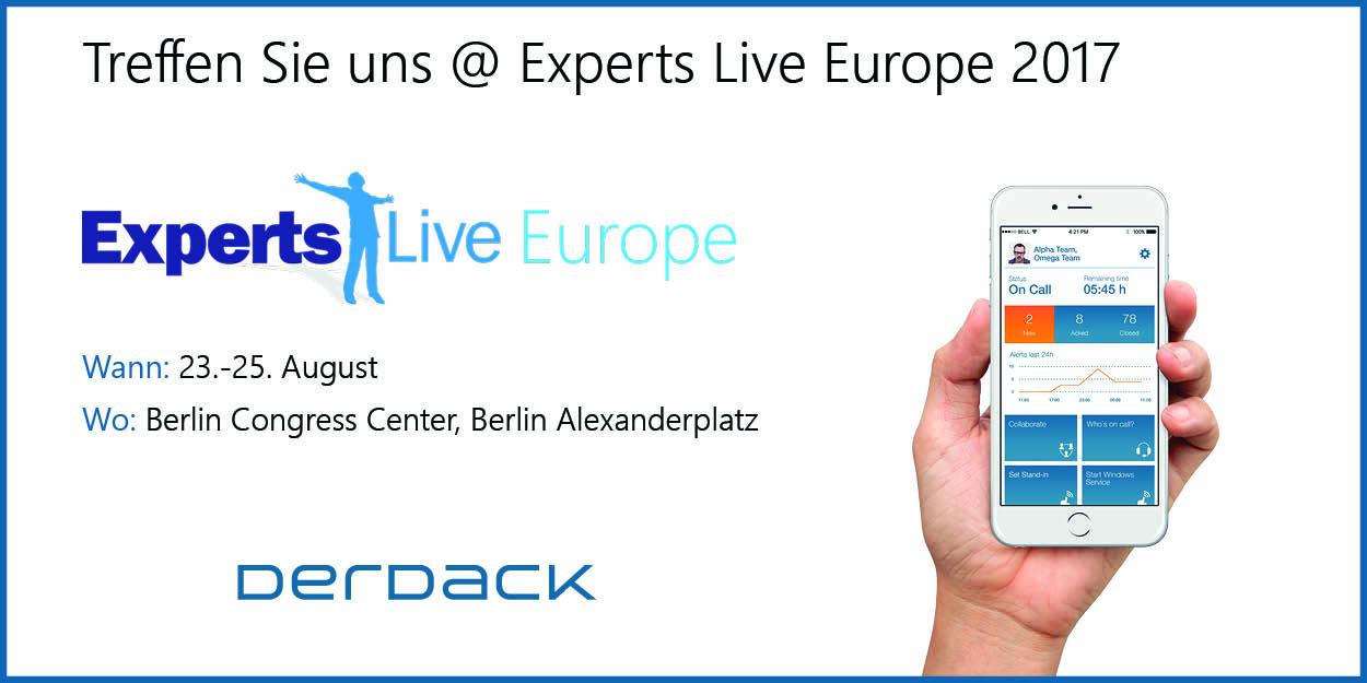 Treffen Sie unsere Derdack Experten bei der Experts Live Europe