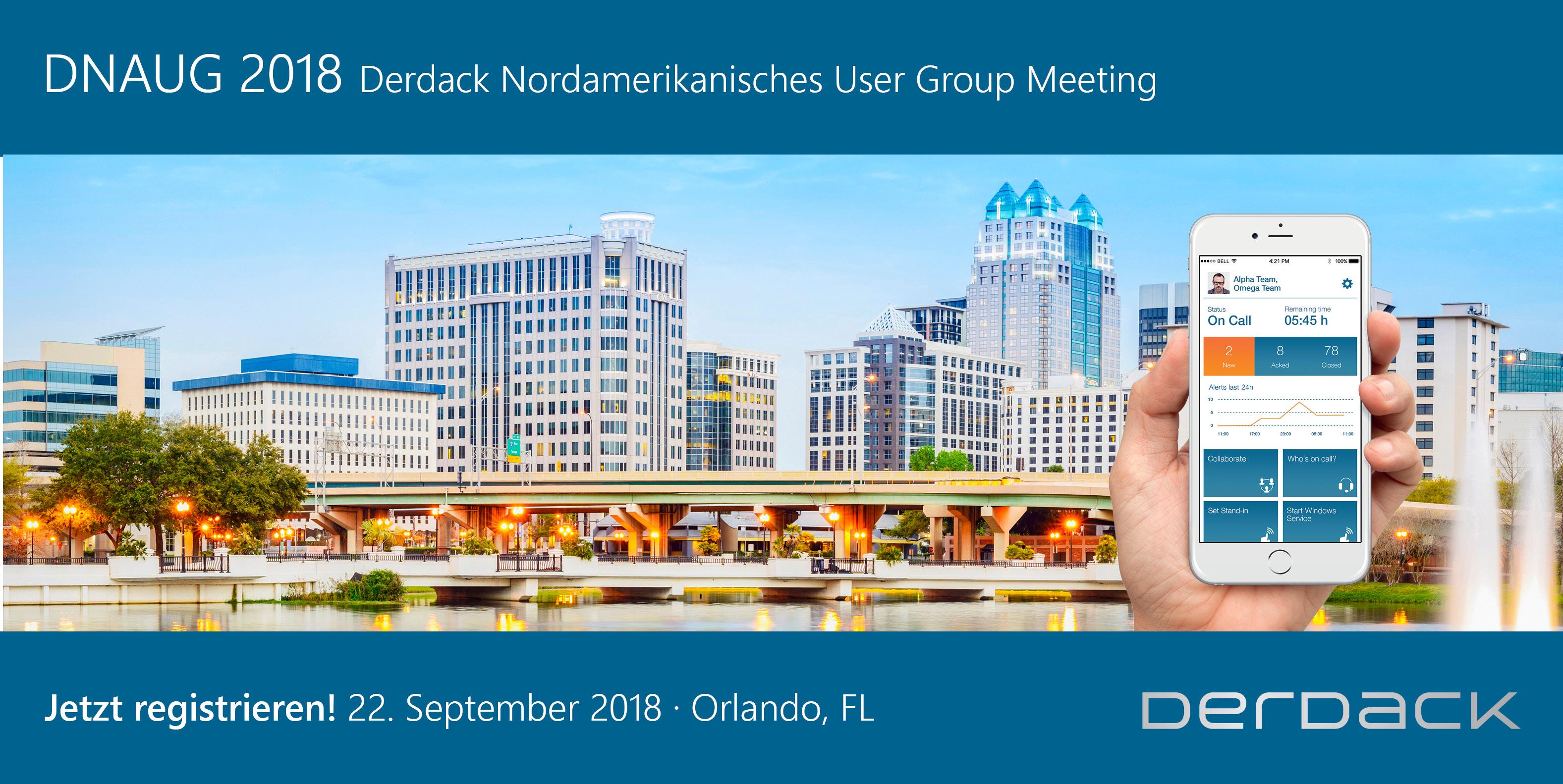 Derdack Nordamerikanisches User Group Meeting 2018 (DNAUG)