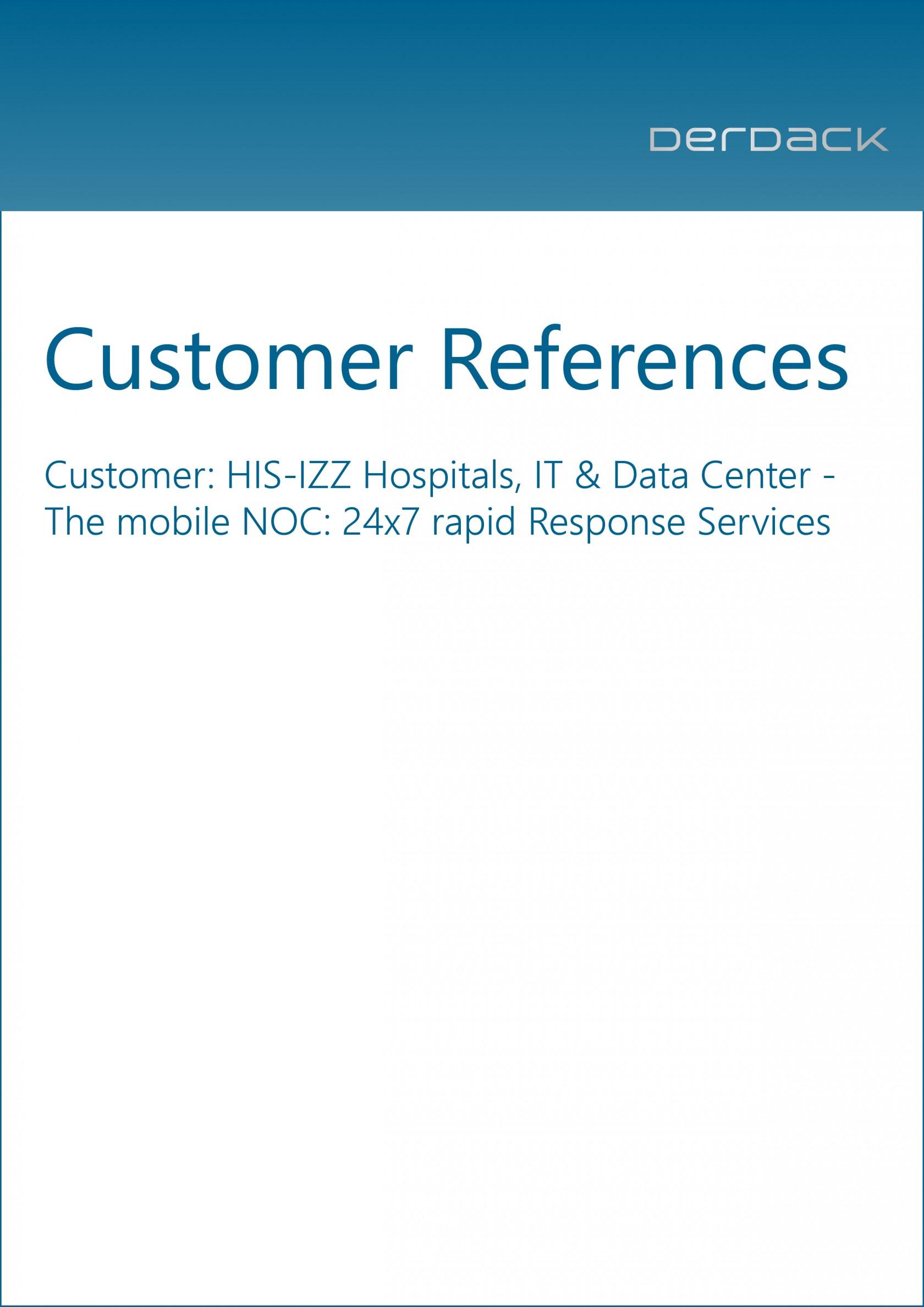 Derdack Customer References