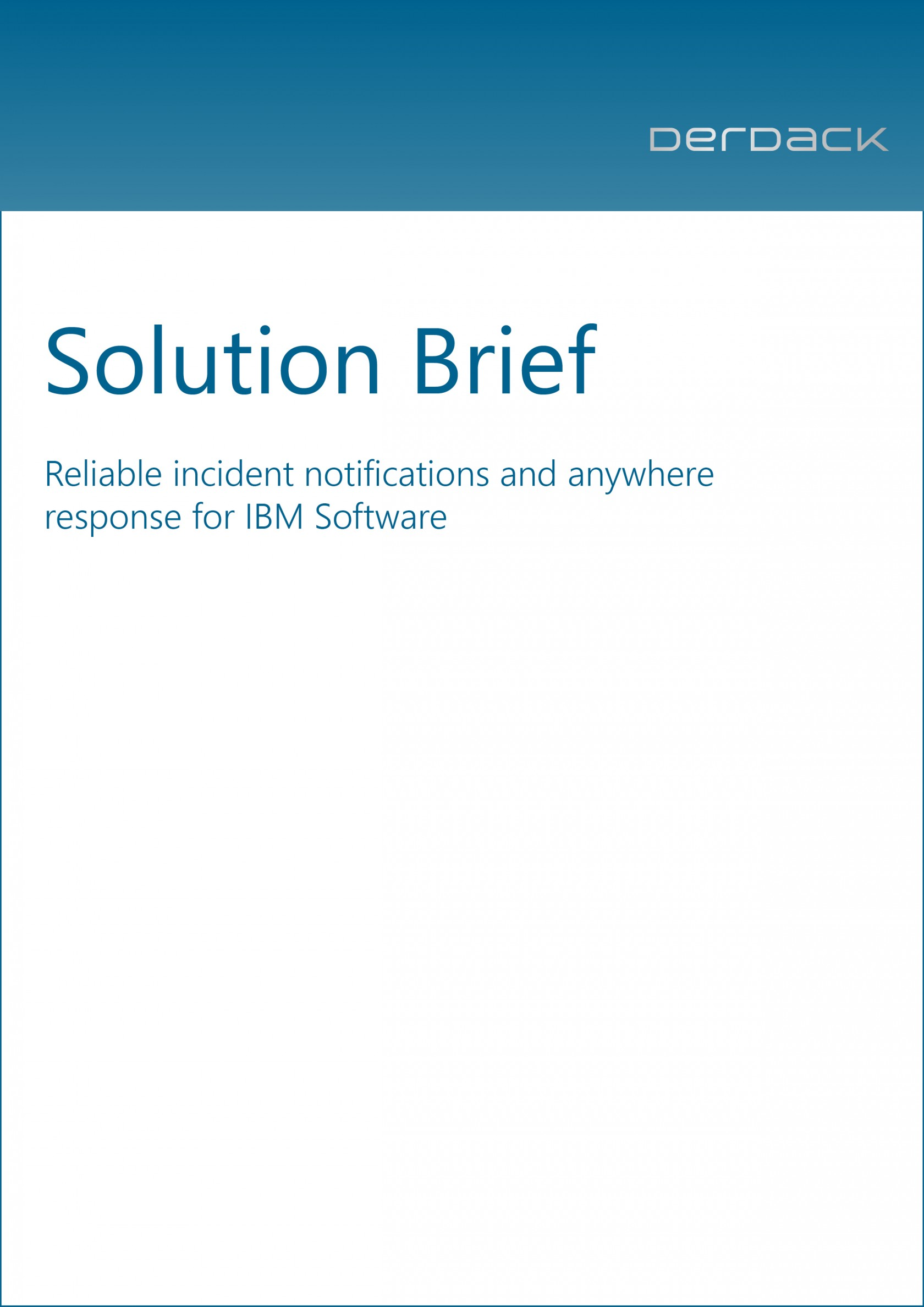 Solution Brief - IBM Tivoli Products