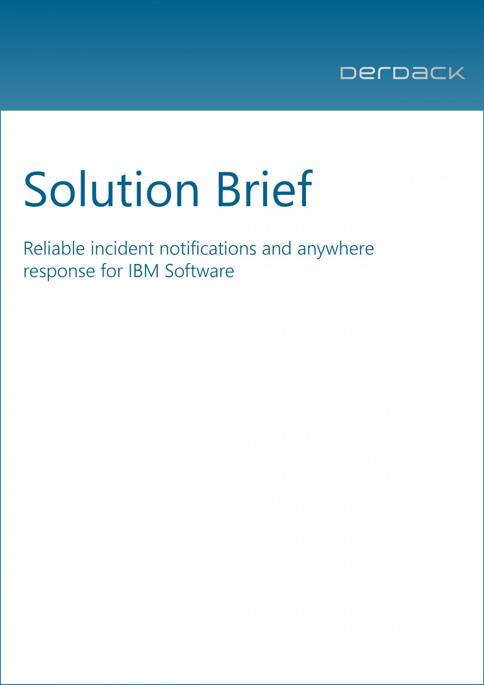 Solution Brief - IBM Tivoli Products
