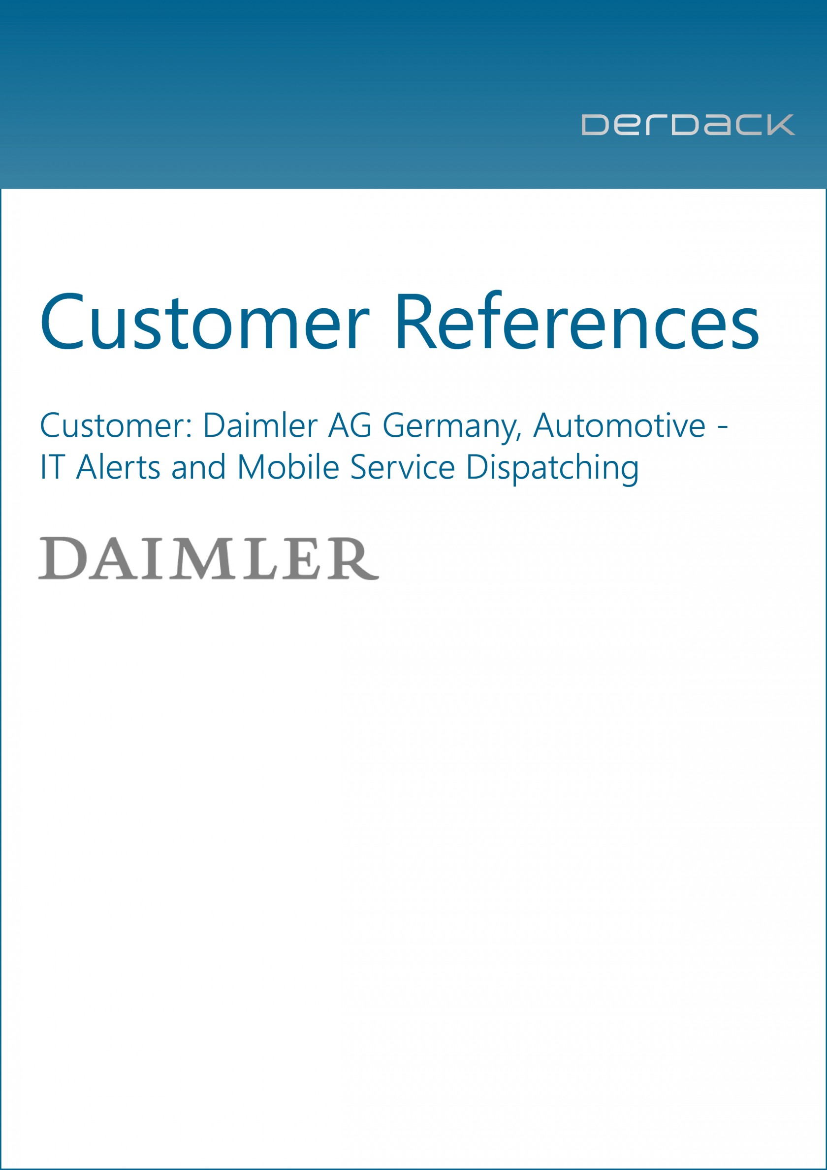 Derdack Customer Reference